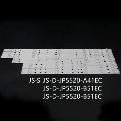 LED شريط إضاءة خلفي 5/4 مصابيح ل اغرى 55 ''التلفزيون AKTV551 JS-D-JP5520-A41EC B51EC C51EC (60416) MS-L0956