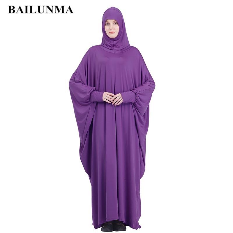 De moda de Khimar musulmana establece oración usan hiyab mujer vestido de...