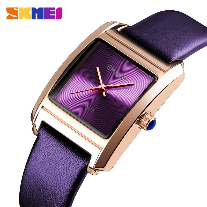 Top Brand Luxury SKMEI Womens Watches Genuine Leather Ladies Watch Quartz Fashion Wrist Watch Reloj Mujer Montre Femme 1432 enlarge