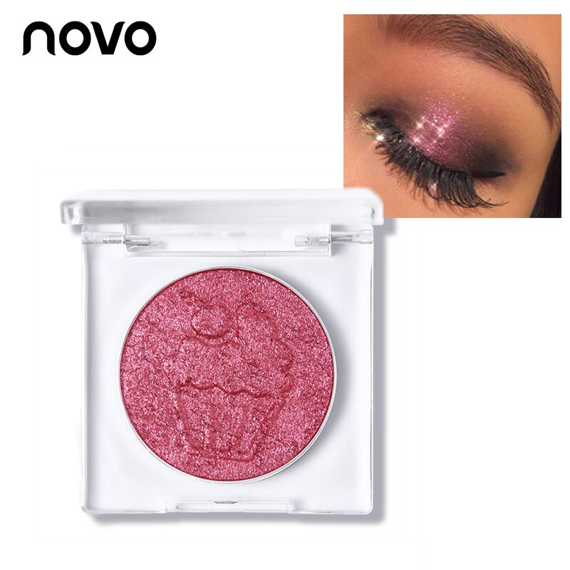 NOVO Brand Crystal Diamond Eyeshadow 15 Colors Smooth Ice Cream Glitter Eye Shadow Palette Natural Nude Shine Pigment Cosmetics