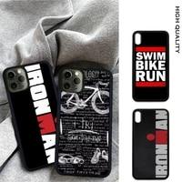 triathlon swim bicycle marathon soft tpu hard pc phone cover for iphone 12 11 pro max xs x xr 7 8 6 6s plus se 2020 case