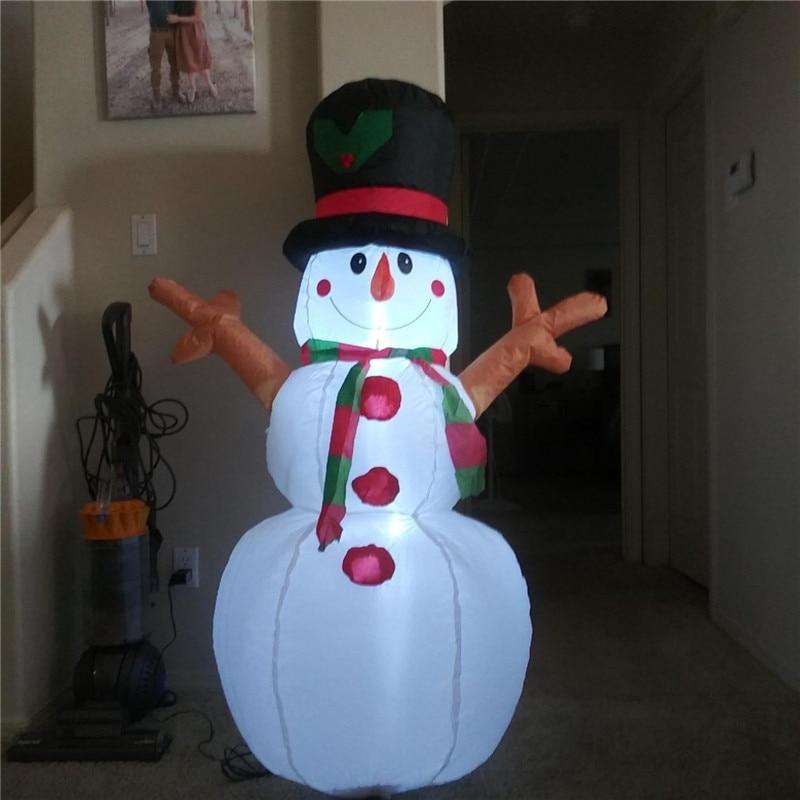 Holiday Lighting Led Christmas Inflatable Model 1.6m Christmas Inflatable Tree  Christmas Snowman Lights Garden Outdoor Decor