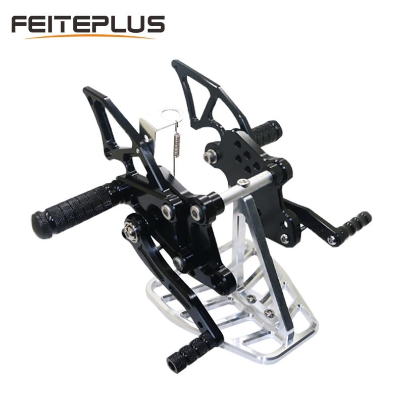 Reposapiés universales para motocicleta CNC, clavijas modificadas para pies para motocicleta Honda Pit Bike, nuevos accesorios para motocicleta