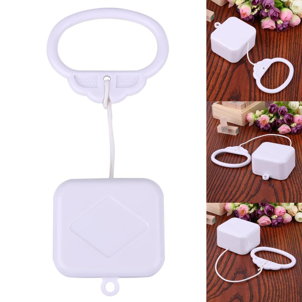 Pull String Clockwork Cord Music Box Pull Ring Music Box White ABS Plastic Baby Infant Kids Bed Bell