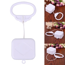 Pull String Clockwork Cord Music Box Pull Ring Music Box White ABS Plastic Baby Infant Kids Bed Bell