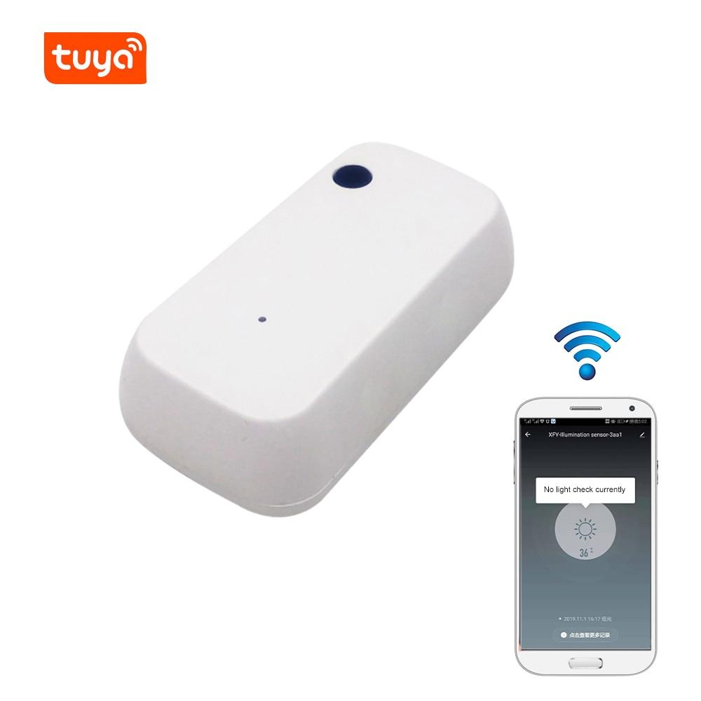 Sensor de luz que trabalha com o sensor esperto da iluminação da inteligência do enlace do aplicativo da vida posto por tuya