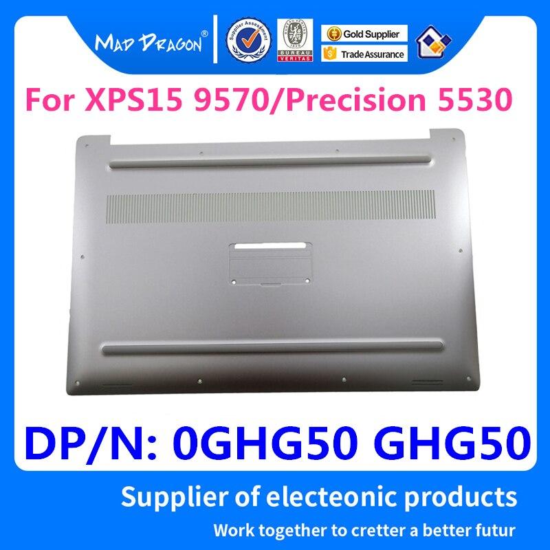 Nuevo plata del ordenador portátil de la marca MAD DRAGON Base inferior blanca cubierta inferior para Dell XPS 15 9570/precisión 5530 M5530 DAM00 0GHG50 GHG50