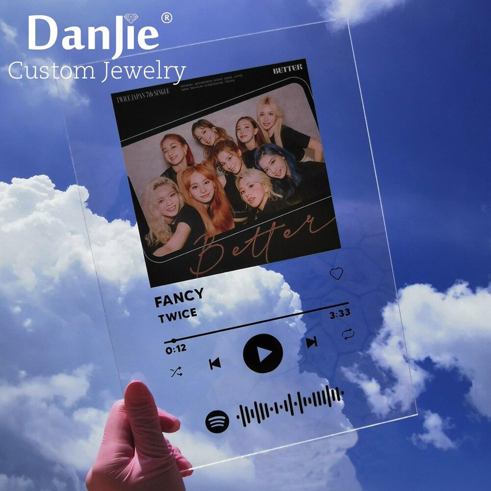 Акриловая музыкальная доска Spotify, 15 х20 см, персонализированная фотография, дата, название, альбом на годовщину, табличка для пар, подарки для ...