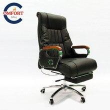 Chaise de patron sillas de oficinaHigh qualité bureau chaise exécutive fauteuil avec repose-pieds chaise de bureau ergonom livraison gratuite