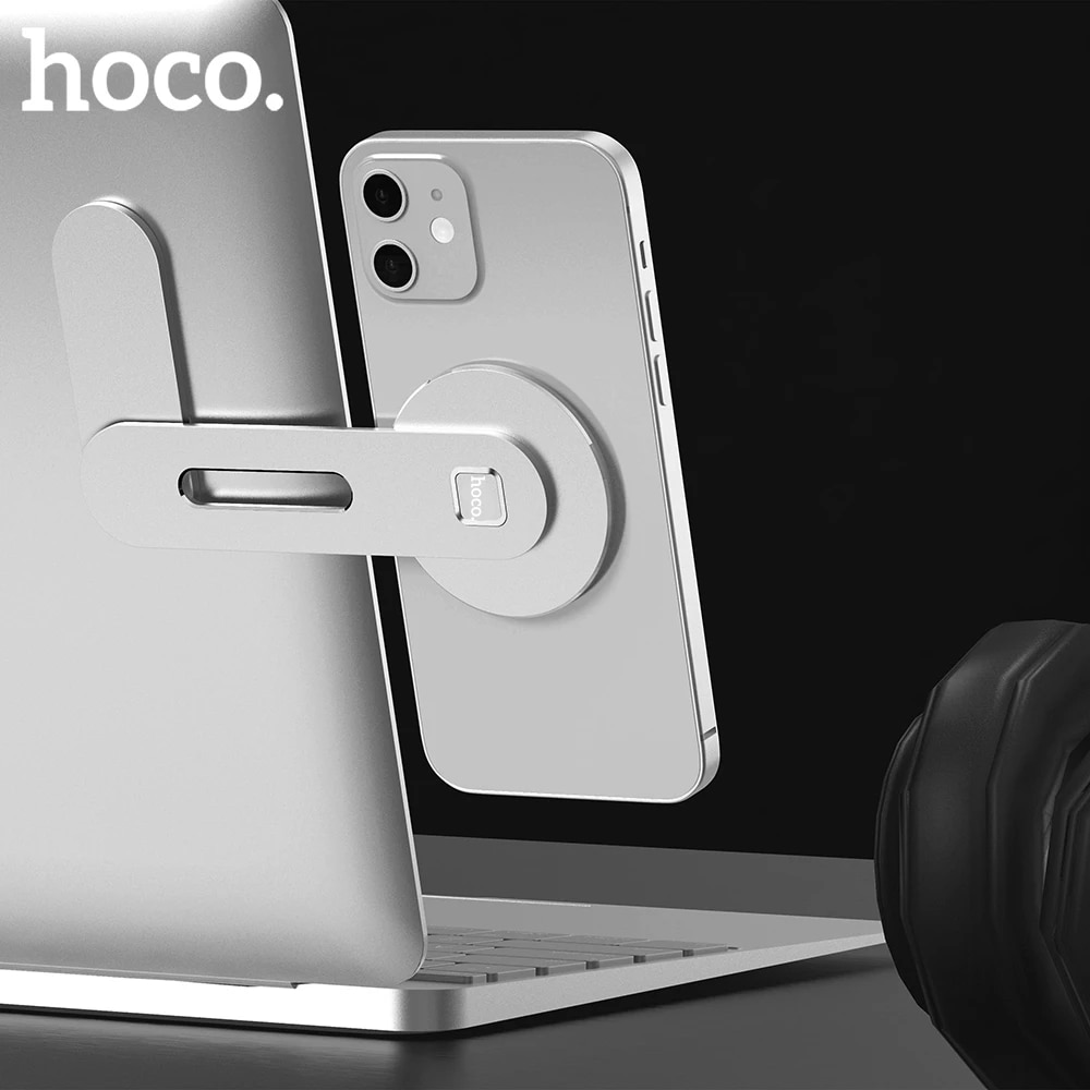 Магнитный держатель Hoco для iPhone 12 Pro Max, металлическая подставка для ноутбука, телефона, держатель для экрана, боковое Крепление, подключение планшетов|Подставки и держатели|   | АлиЭкспресс