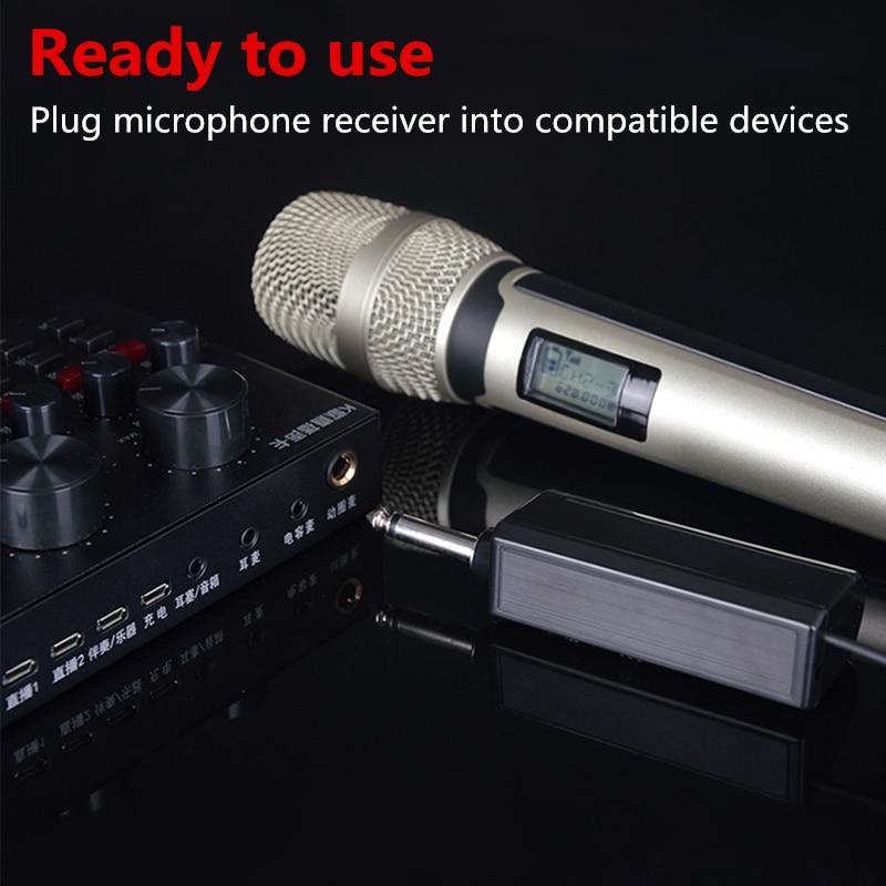 Wireless Karaoke Microphone Dynamic UHF Home Studio Recording For Computer Audio Professional DJ Speaker Conference enlarge