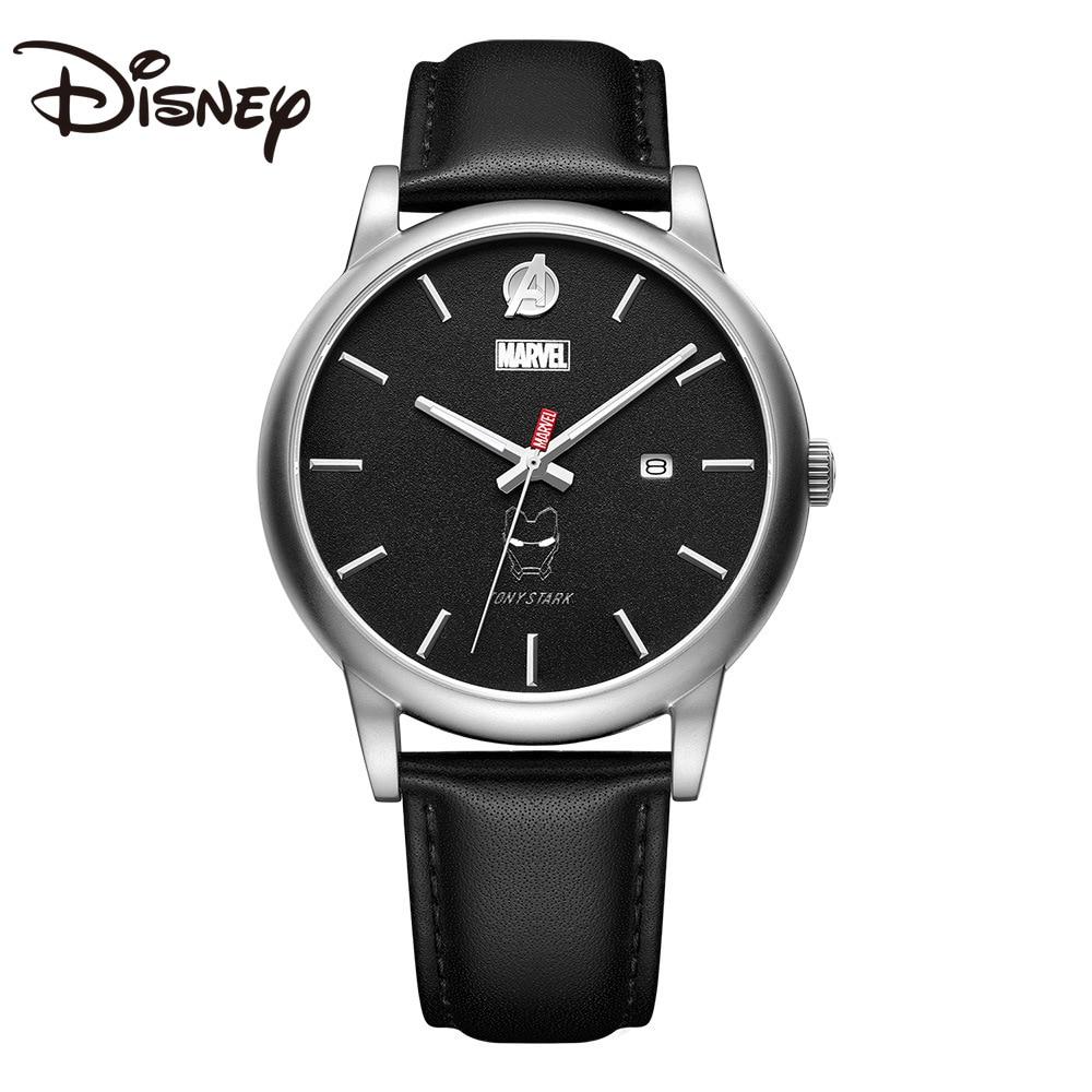 Disney Watch Men's 2021 New Quartz Men's Watch Belt Casual Trend Sports Luminous Iron Man Reloj Mujer Marcas Famosas De Lujo