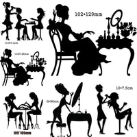 beauty salons lady blowing hairmakeuppainting nails metal cutting dies for scrapbooking diy card making cut crafts stencil die