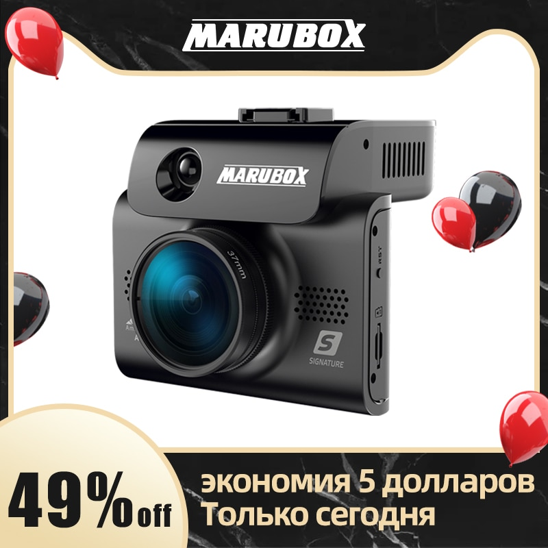 Marubox M700R Signature Touch Car DVR Radar Detector GPS 3 in 1 HD2304*1296P 170 Degree Angle Russian Language Video Recorder