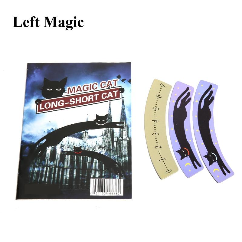 Divertido gato largo-corto trucos de magia gato Primer plano calle Satge juguetes mágicos ilusión accesorios juguete