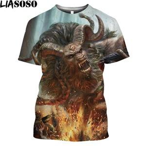 Minotaur 3D Printed Men T Shirt Greek Mythology Vintage T Shirt Graphic Tee Animal Bull Yak Hip Hop Halloweentown Harajuku Shirt