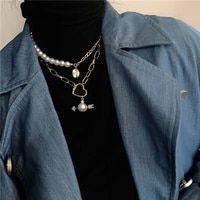 party vintage necklace layered extender minimalism fashion hippie necklace punk retro gift harajuku collier femme jewelry by50xl