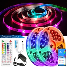 DreamColor LED Strip Lights Bluetooth Music Sync APP Control Rainbow RGB IC Waterproof Flexible luce