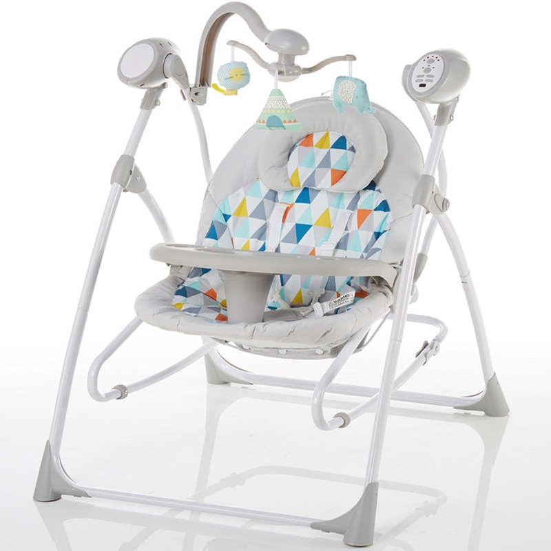 Mecedora eléctrica para bebé, cuna cómoda para bebé, mecedora reclinable, artículos para bebé, cama rusa, envío gratis 2020 ahora