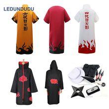 Naruto Cosplay Costumes Akatsuki Itachi manteaux Sasuke Uchiha Cape Yondaime 4th Hokage Naruto Uzumaki 6th Hokage Robes accessoires