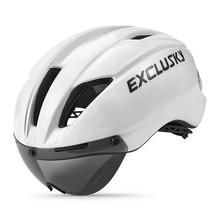 Road Bicycle Helmet with goggles Lens Red Mtb Bike Helmet ciclismo aero Cycling Helmet Sport cap foxe wilier racing D