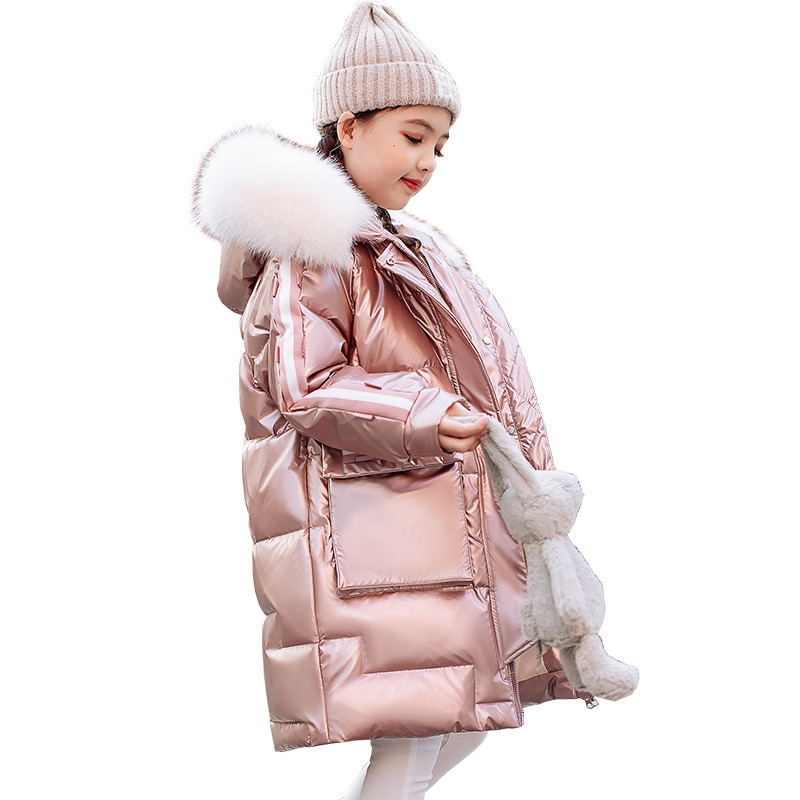 2021 New Winter Girl Beautiful Warm White Duck Down Long Down Jacket Coat enlarge