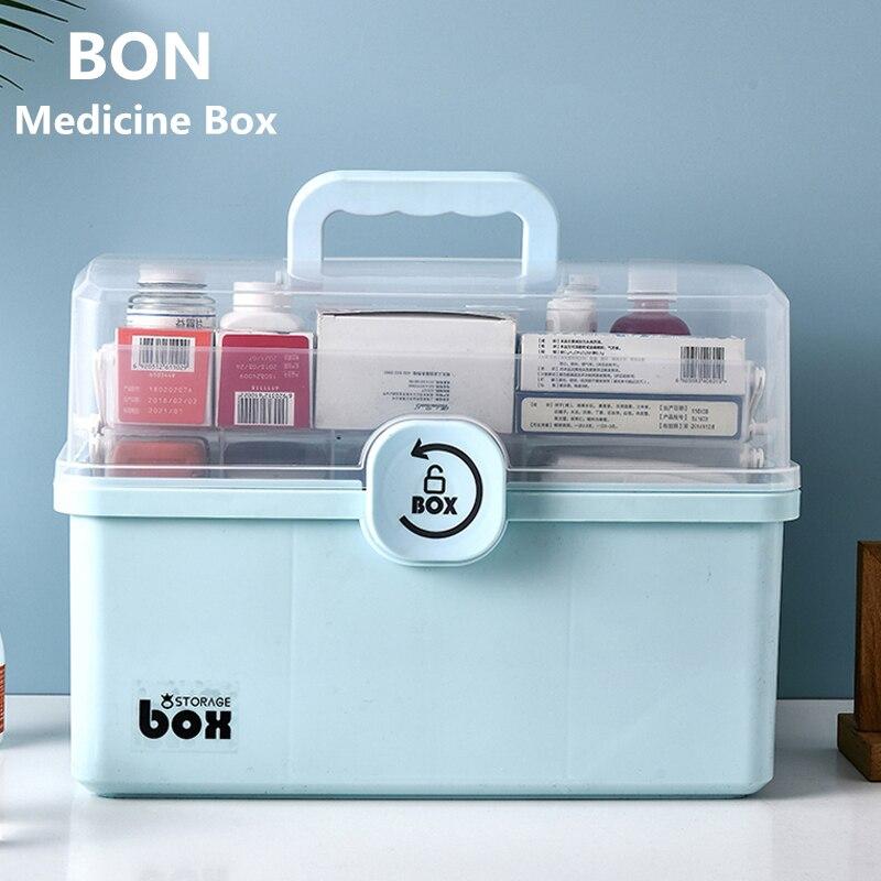 Boîtes à médicaments 3 couches grande capacité boîte de rangement médicale premiers soins boîte médicale famille médicaments boîte Portable médecine coffre