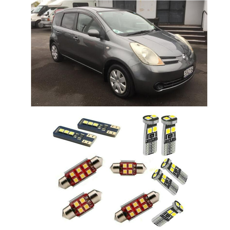 Car Accessories Car Led Interior Light Kit For Nissan Note 2005 - 2012 Error Free White 6000K Super Bright
