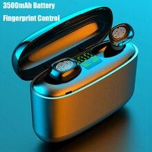 3500mah LED Bluetooth 5.0 TWS sans fil écouteurs contrôle dempreintes digitales écouteurs IPX7 étanche Sport casque PK F9 écouteur