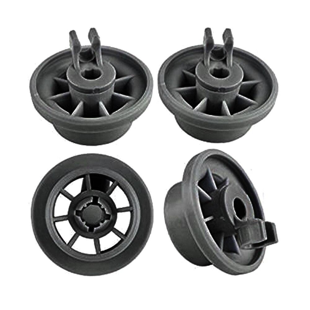 4 stücke Spülmaschine Niedrigeren Dishrack Rad Spülmaschine Rack Roller Räder für Bosch/Siemens/NEFF satz Untere Korb