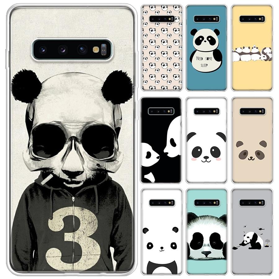 Panda lindo caso de teléfono para Samsung Galaxy S20 Ultra Plus S7 S8 S9 S10 S10E NOTE8 NOTE9 NOTE10 J4 J6 J8 Plus Lite 2020