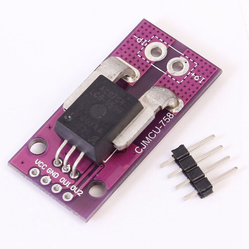 Top ACS758LCB 50A Range Linear Current Sensor Analog Signal Output for Arduino Hall Effect Based Purple