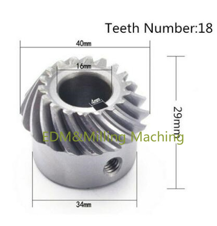 CNC Milling Machine Part C96 Helical Lifting Gear Spiral Umbrella Type Gear For Bridgeport Mill Tool enlarge