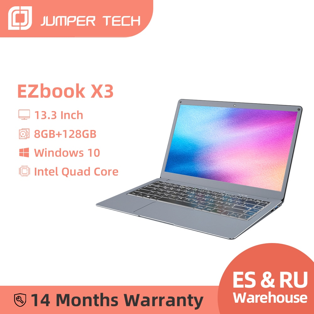 Review Jumper EZbook X3 Notebook 8GB 128GB 13.3 Inch 1920*1080 IPS Screen Intel Celeron Quad Core Ultra Slim Win10  Laptop 2.4G/5G WiFi