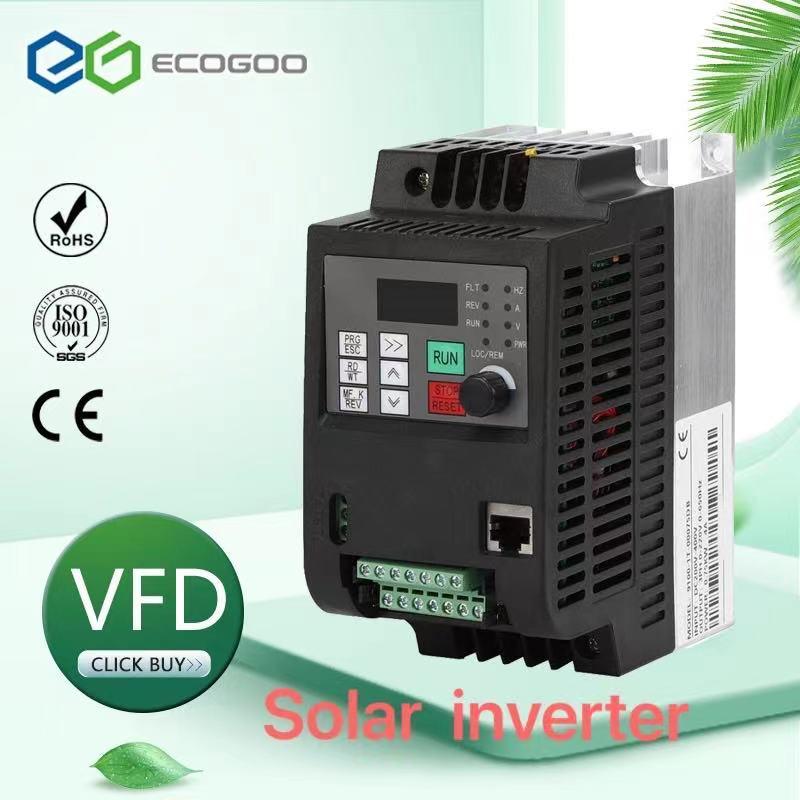 PV الشمسية العاكس تيار مستمر إلى التيار المتناوب ثلاث مراحل محول 220 فولت 0.75kw/1.5kw/2.2kw/4kw مع MPPT التحكم في المضخة الشمسية VFD
