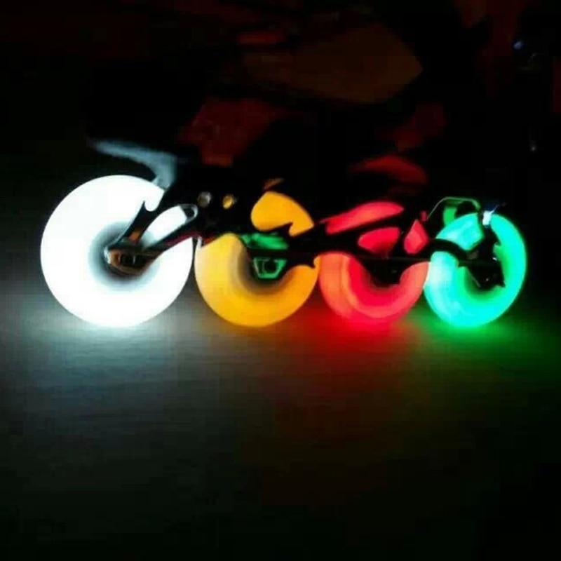1pcs Outdoor Cool Flash Roller Wheels 90A PU LED Flashing inline skate wheel 76mm skate wheel rollerblad skate Super Durable