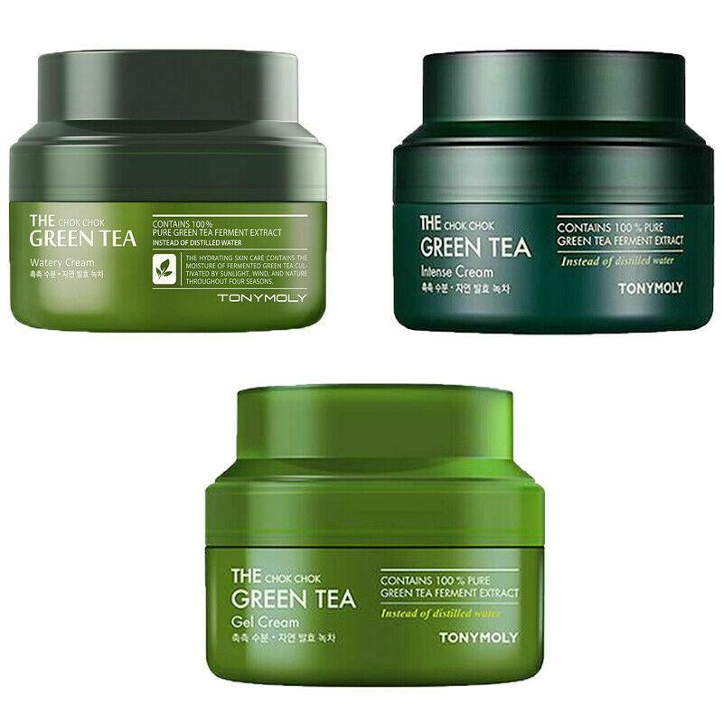 TONYMOLY The Chok Chok Green Tea Cream 60ml Moisturizing Face Cream Anti Wrinkle Whitening Facial Firming Serum Korea Cosmetics