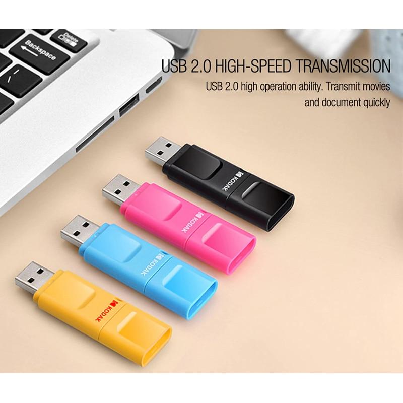Kodak original K232 16GB 32GB 64GB USB2.0 Flash Pen Drive USB Flash Drive U disco Mini memoria Pen Drives disco Flash