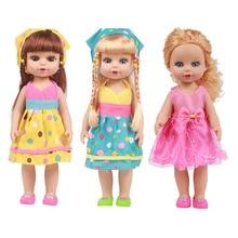 35cm Reborn Baby Cartoon Dolls Vinyl Silicone Lifelike Kids Simulation Toys Cute Pretty Dolls for Baby Girls Toys Birthday Gifts