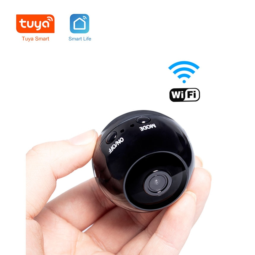 Smart Home Tuya 1080P Wifi cámara inalámbrica Red Remota cámara de vigilancia cámara portátil Mini cámara para salpicadero de coche Audio