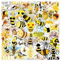 103050pcs cartoon yellow vsco bee flower stickers diy skateboard guitar laptop fridge luggage graffiti decal sticker kid toy