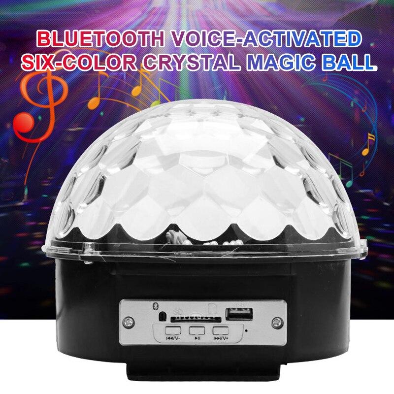 Altavoz LED Bluetooth Bola de discoteca luz con reproductor Mp3 graduación láser fiesta luz 18W DJ etapa luz láser lámpara de proyección