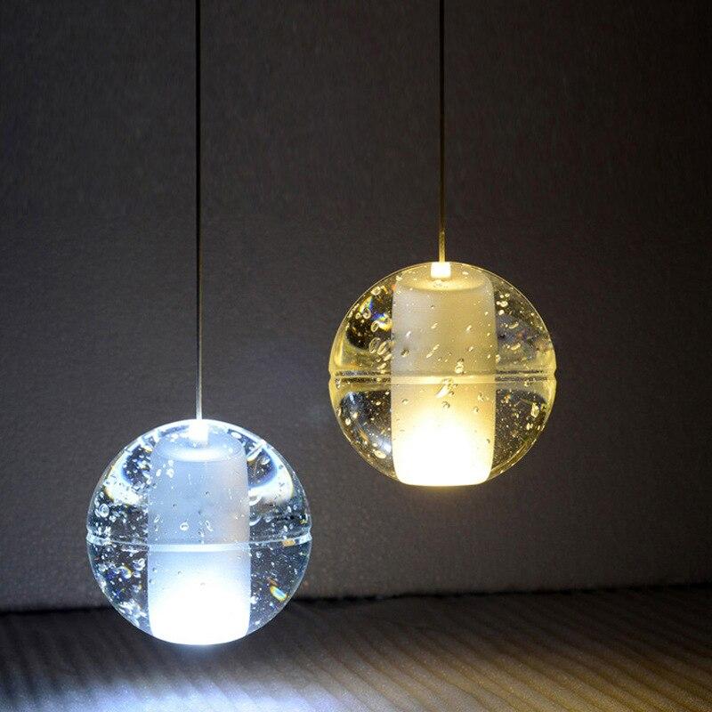 Лестница хрустальная люстра в форме шара G4 люстры гостиной настенные украшения для кухни спальни Подвесные светильники, современные свето...