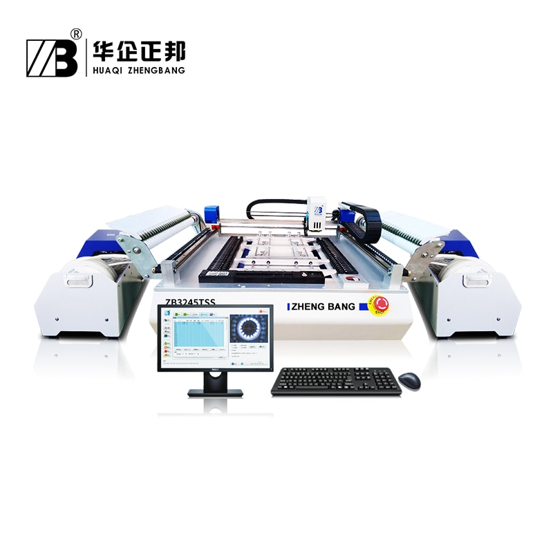 Desktop SMD Pick Place Machine with 54 feeder location and 4 camera