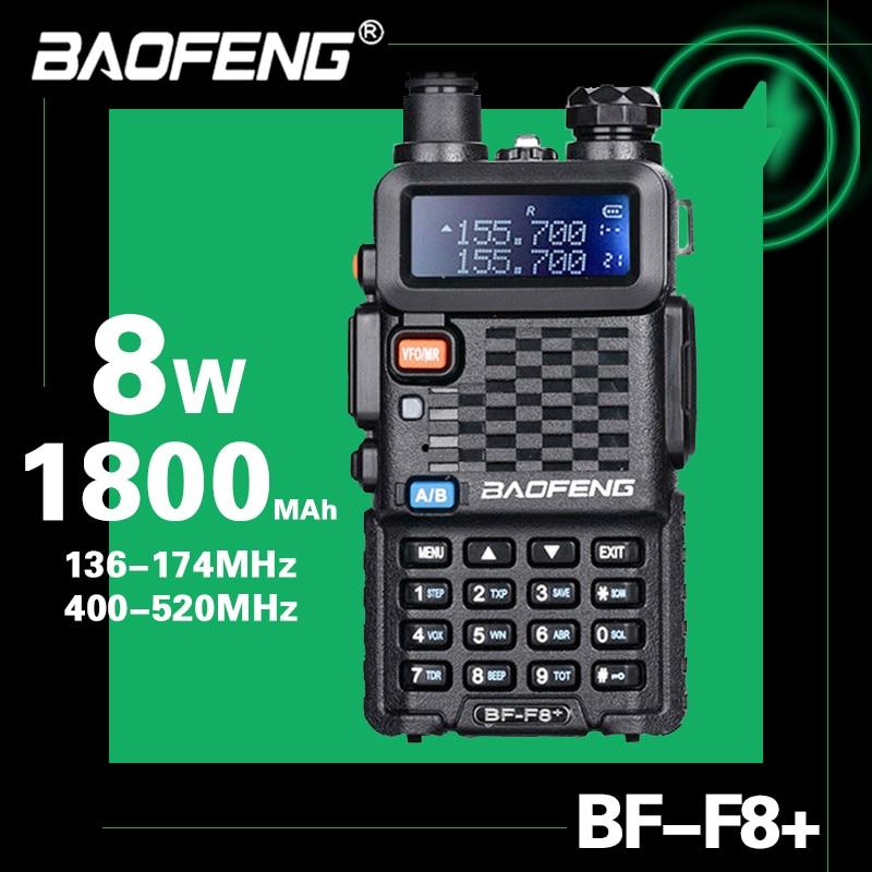 2020 Baofeng BF-F8 + обновленная рация, полицейская двухсторонняя Автомобильная радиостанция, портативная Любительская рация для охоты, 5 Вт, УВЧ, СВ...