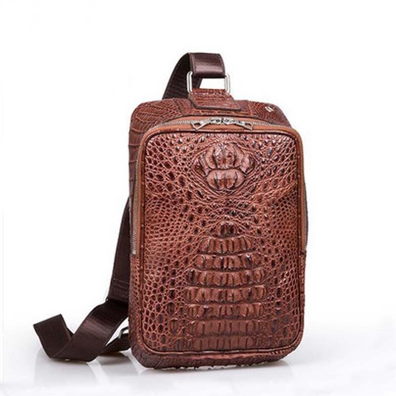 mengzhongmeng crocodile skin men bag man single shoulder bag men crocodile leather bag  business man chest bag
