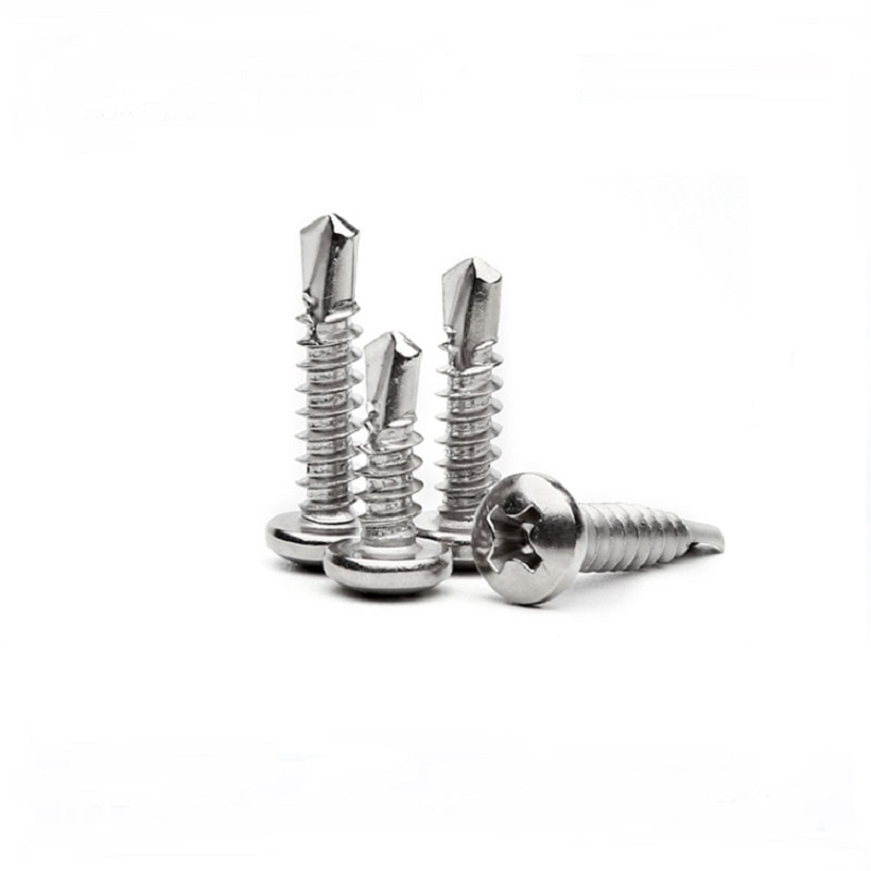 20-60 uds M4.2 M4.8 410 tornillos de cabeza de perforación redondos de acero inoxidable con tornillos de cabeza de perforación