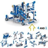 354+pcs 4in1 Building Block Inventor Engineering Truck Building Blocks Construction set DIY Brick Toys For children