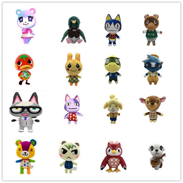 Animal Crossing Plush Toy Cartoon Raymond Amiibo Card Jingjiang Doll KK Isabelle Plush Toys for Children