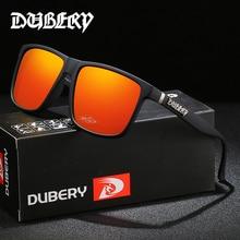 DUBERY Vintage Sunglasses Polarized Men's Sun Glasses For Men Driving Black Square Oculos Male 8 Col